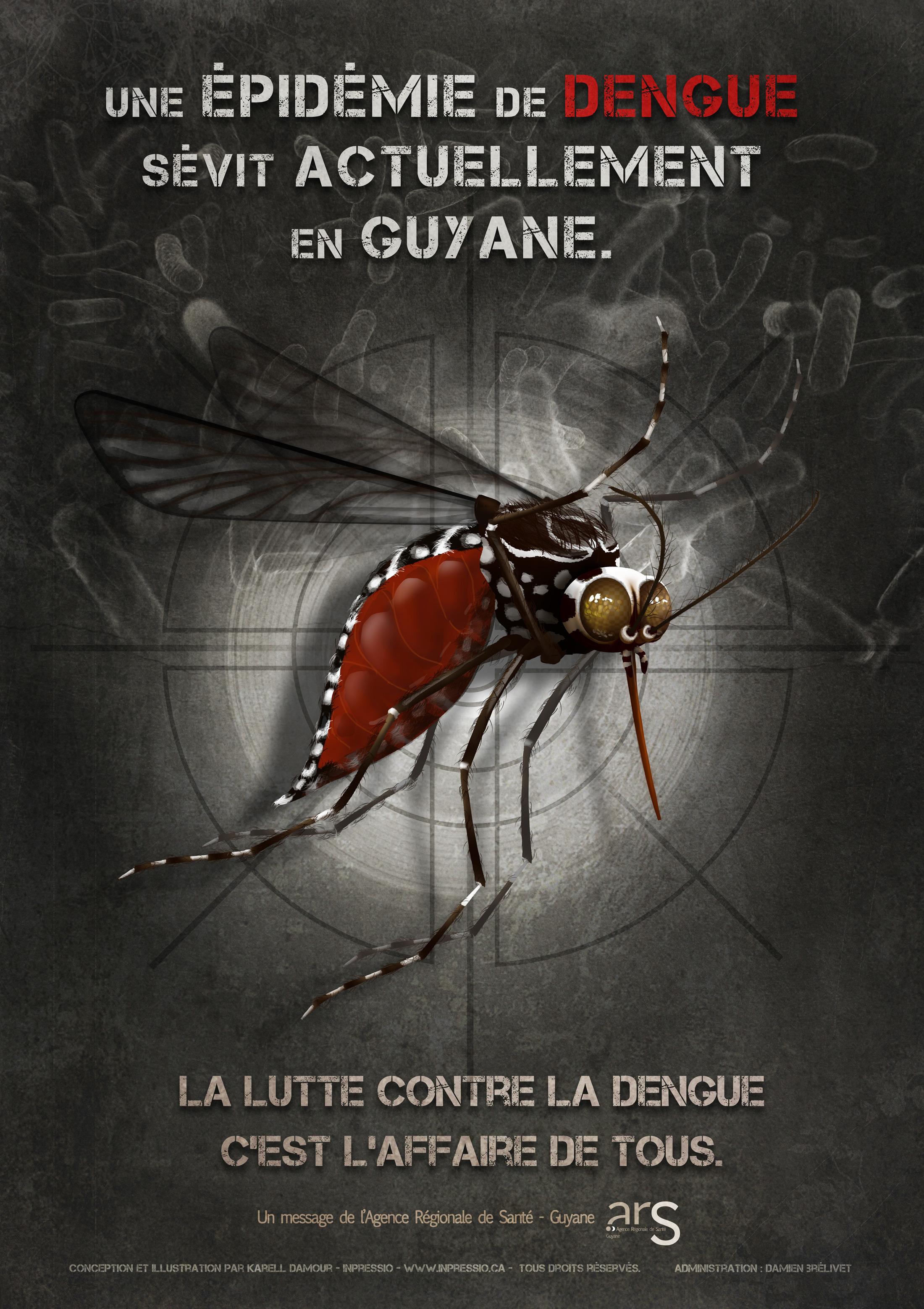 Affiche de prévention contre la Dengue