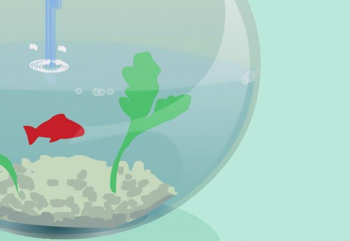 Animation de chargement Flash - poisson suicidaire
