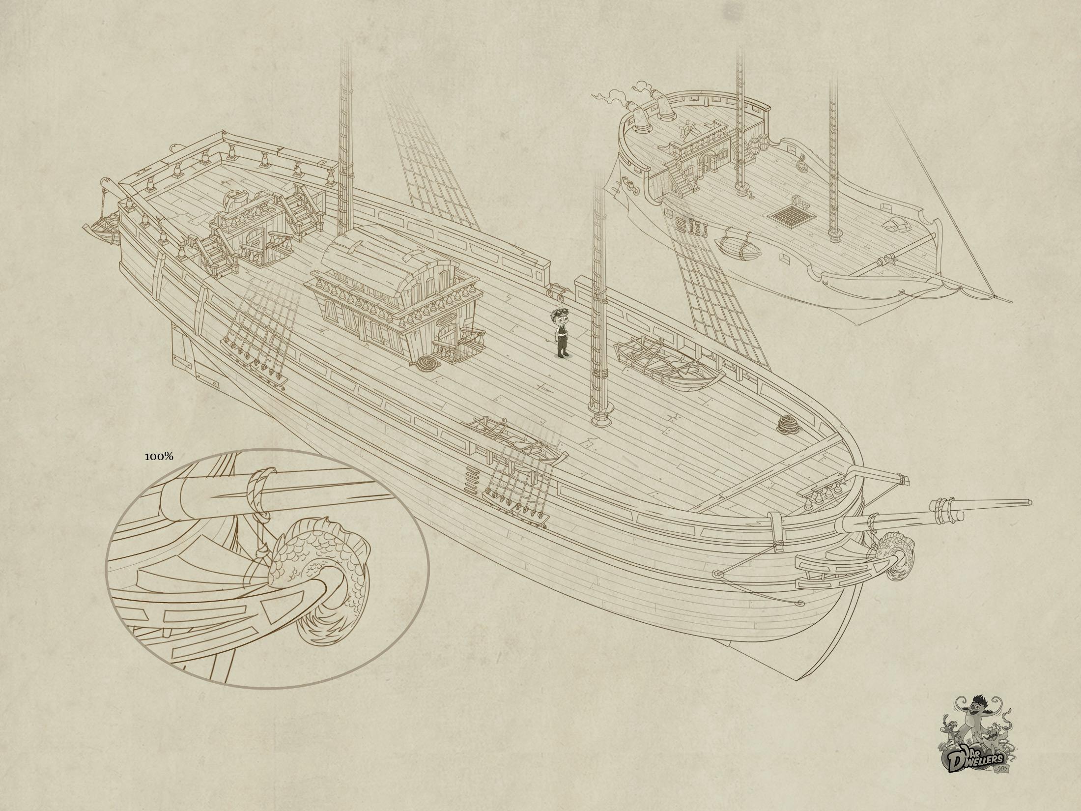 S.O.S Créatures - Concept bateau