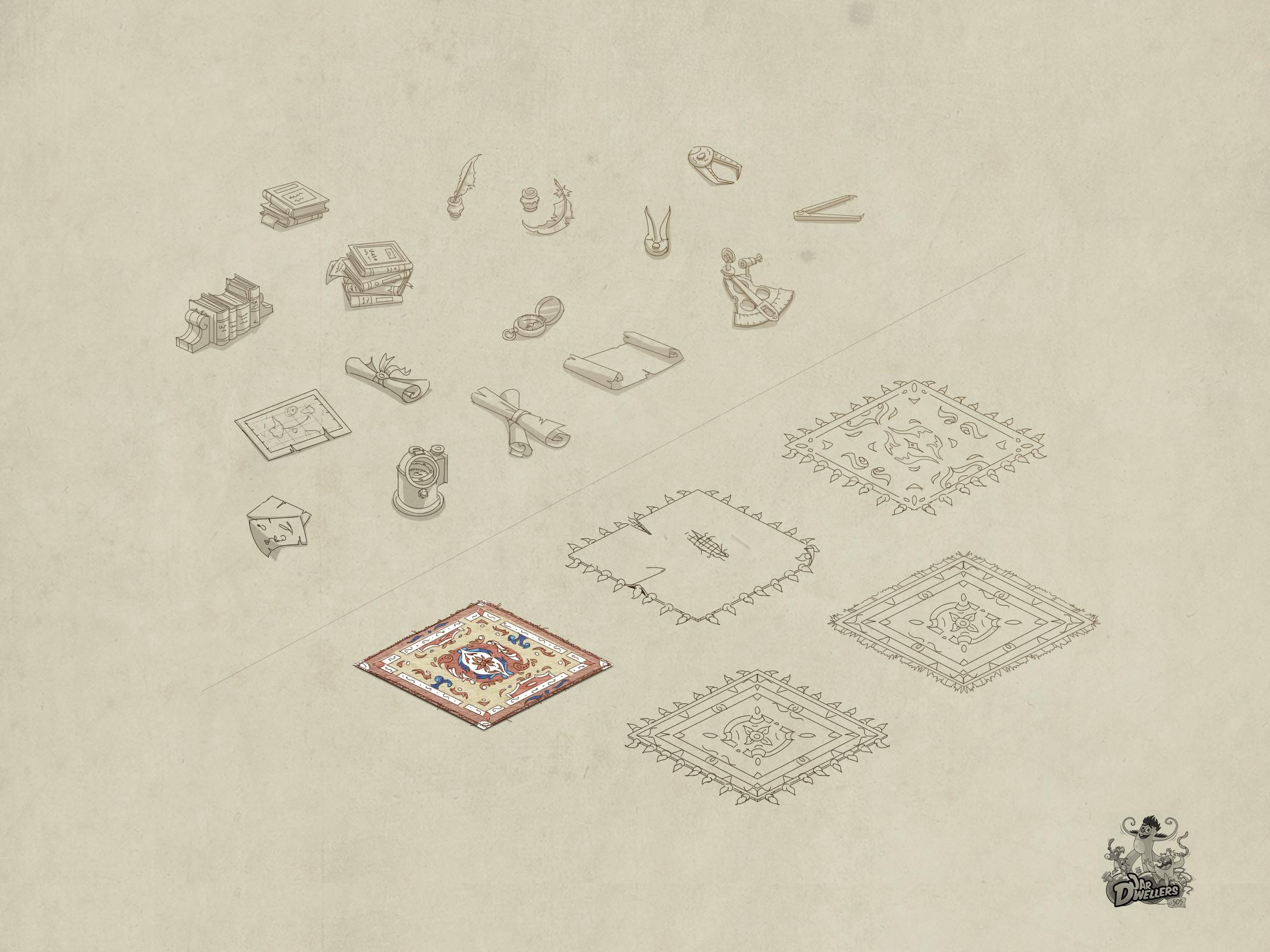 S.O.S Créatures - Croquis éléments