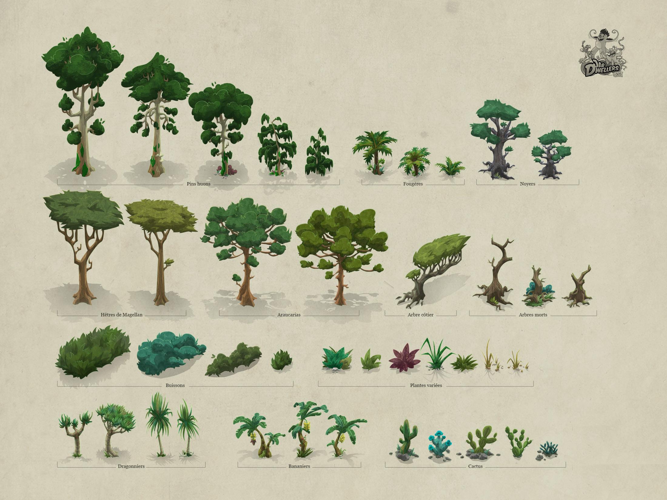 S.O.S Créatures - Assets végétation