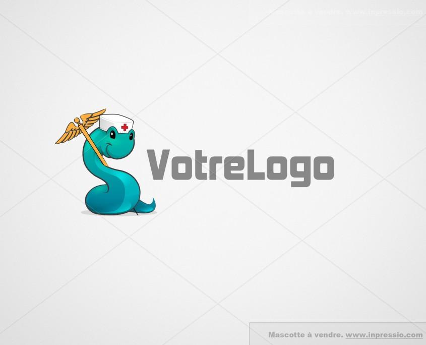 Couleuvre d'esculape - Logo/Mascotte à vendre