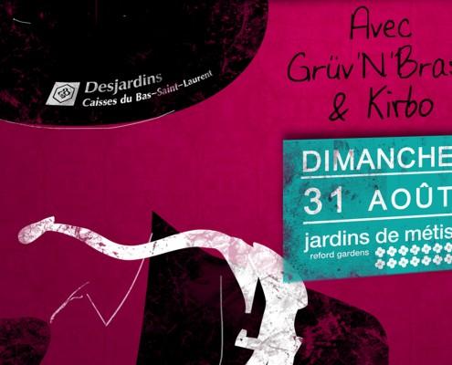 Affiche Brunch - Festi Jazz / Jardins de Métis 2008