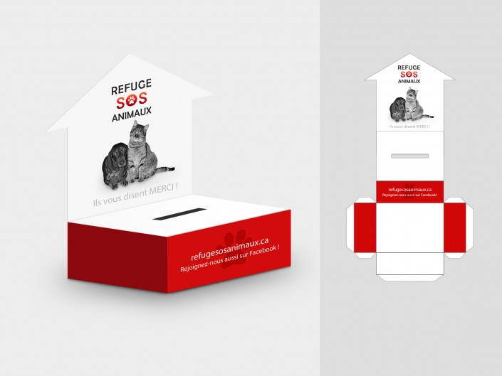 Refuge SOS Animaux - Boîte à dons