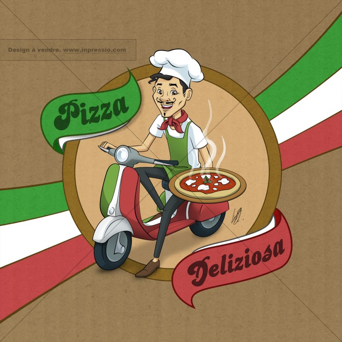 Pizza! - Design de packaging à vendre