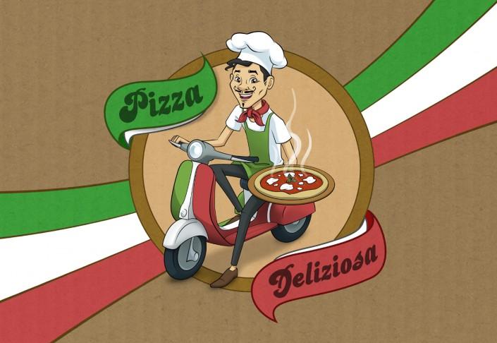 Pizza! - Design de packaging à vendre