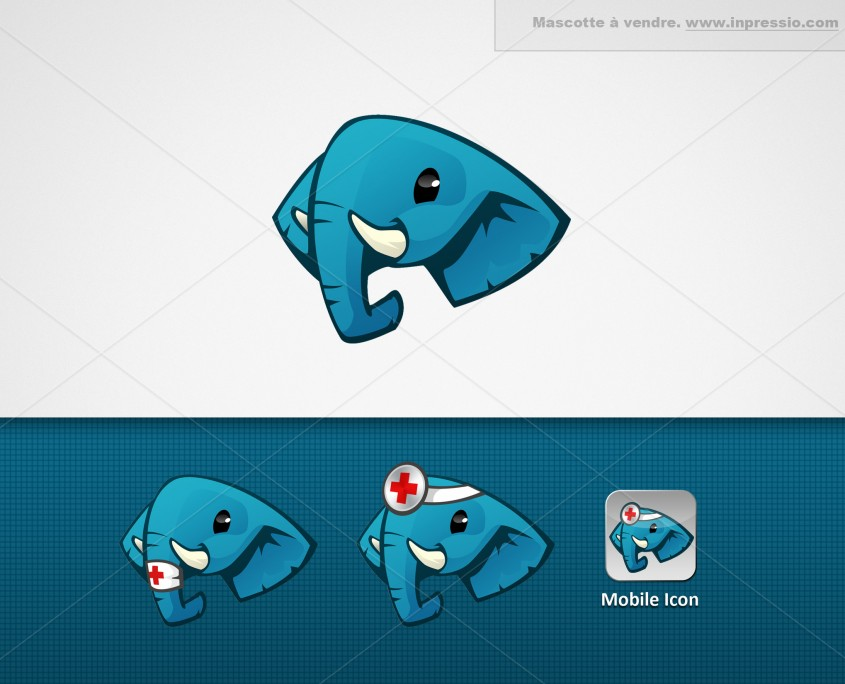 Éléphant - Logo/Mascotte à vendre